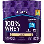 EAS Vanilla EAS 100% Whey Protein Powder Vanilla Powder Canister