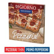 DiGiorno Pizzeria! Primo Pepperoni Frozen Pizza on a Thin Hand-Tossed Style Crust