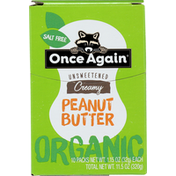 Once Again Peanut Butter, Organic, Creamy, Unsweetened, 10 Pack