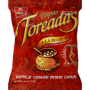Barcel Potato Chips, Kettle Cooked, Red Hot Chili Pepper Flavored
