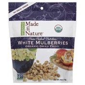 Made in Nature Mulberries, White, Organic Dried Fruit