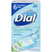 Dial Skin Care Bar Soap, Coconut Water