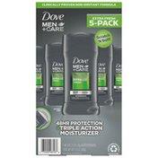 Dove 48hr Protection + Triple Action Moisturizer Aluminum Zirconium Tetrachlorohydrex Gly Antiperspirant Stick, Extra Fresh