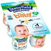Stonyfield Organic YoBaby Vanilla Whole Milk Yogurt with Probiotics