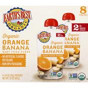 Earth's Best Baby Food Puree, Orange Banana, 2 (6+ Months)