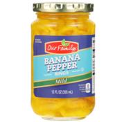 Our Family Mild Banana Pepper Rings