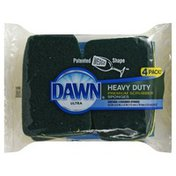 Dawn Scrubber Sponges, Premium, Heavy Duty, 4 Pack