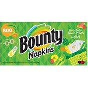 Bounty Paper Napkins, Print, 800 Count