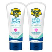 Banana Boat Simply Protect Sensitive Sunscreen Lotion - SPF 50