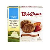 Bob Evans Farms Fully Cooked Original Pork Sausage Patties - 8 CT