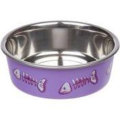 Loving Pets Lilac Skeleton Design Bella Cat Bowl