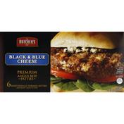 Butcher's Cut Patties, Premium, Angus Beef, Black & Blue Cheese