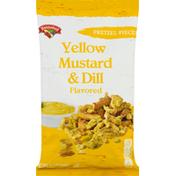 Hannaford Pretzel Pieces, Yellow Mustard & Dill Flavored