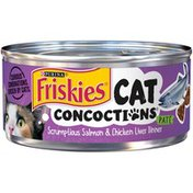 Friskies Cat Concoctions Scrumptious Salmon & Chicken Liver Dinner Pate Wet Cat Food