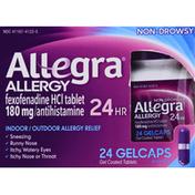 Allegra Allergy Relief, Indoor/Outdoor, 24 Hr, Non-Drowsy, Gelcaps