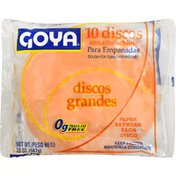Goya Empanada Discos Dough for Turnover Pastries with Color, Large