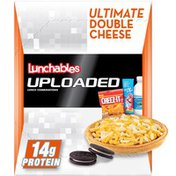Lunchables Ultimate Double Cheese Deep Dish Pizza Meal Kit with Water, Chocolate Sandwich Cookies, Cheez-It Crackers & Kool-Aid Tropical Punch Single
