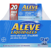 Aleve Pain Reliever/Fever Reducer, 200 mg, Liquid Gels