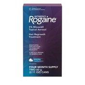 ROGAINE Women's 5% Minoxidil Topical Foam