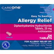 CareOne Allergy Relief Antihistamine Tablets