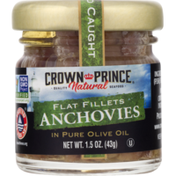 Crown Prince Anchovies, in Pure Olive Oil, Flat Fillets