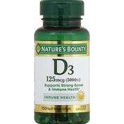 Nature's Bounty Vitamin D3 5000 Rapid Release Softgels