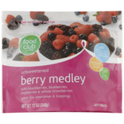 Food Club Unsweetened Berry Medley With Blackberries, Blueberries, Raspberries & Whole Strawberries