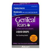 GenTeal Tears Lubricant Eye Drops Liquid Drops Moderate Twin Pack