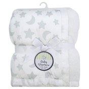 Baby Starters Blanket, White Stars