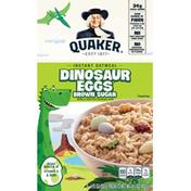 Quaker Instant Oatmeal Dinosaur Eggs Brown Sugar