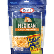 Kraft Finely Shredded Cheese, Cheddar Jack, Mexican Style