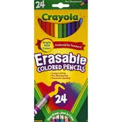 Crayola Colored Pencils, Erasable, Pre-Sharpened