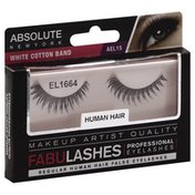 Absolute New York False Eyelashes, Professional, Human Hair, AEL 15