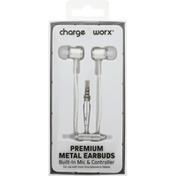 Chargeworx Earbuds, Metal