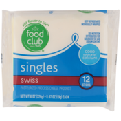 Food Club Swiss Pasteurized Process Cheese Product Singles