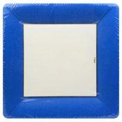 "Caspari 10.50"" Plate Border Blue"