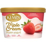 Kemps Triple Cream Summer Strawberry Frozen Yogurt