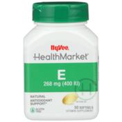 Hy-Vee Healthmarket, E 268 Mg (400 Iu) Antioxidant Support Vitamin Supplement Softgels