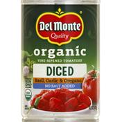 Del Monte Tomatoes, No Salt Added, Organic, Stewed