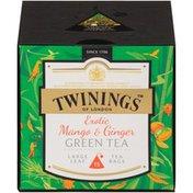 Twinings Exotic Mango & Ginger Large Leaf Green Tea Bags