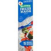 SB Freezer Bags, Slider, Quart