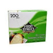 First Street Reclosable Sandwich Bags