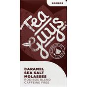 Tea Guys Rooibos Blend, Caramel Sea Salt Molasses, Caffeine Free, Pyramid Tea Bags