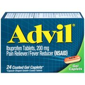 Advil Pain Reliever/Fever Reducer Coated Gel Caplet 200mg Ibuprofen Temporary Pain