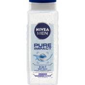 Nivea Body Wash, 3-in-1, Pure Impact