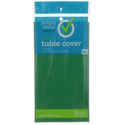 Simply Done Plastic Table Cover, Green