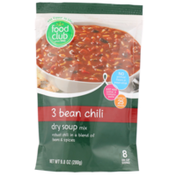 Food Club 3 Bean Chili Dry Soup Mix