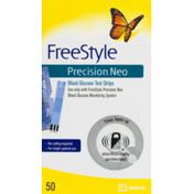 Abbott FreeStyle Precision Neo Blood Glucose Test Strips - 50 CT