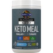 Garden of Life Keto Meal, Balanced Shake, Vanilla