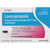 Safeway Lansoprazole, 24 Hour, Capsules